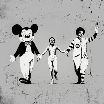 banksy mickey mouse ronald mcdonald